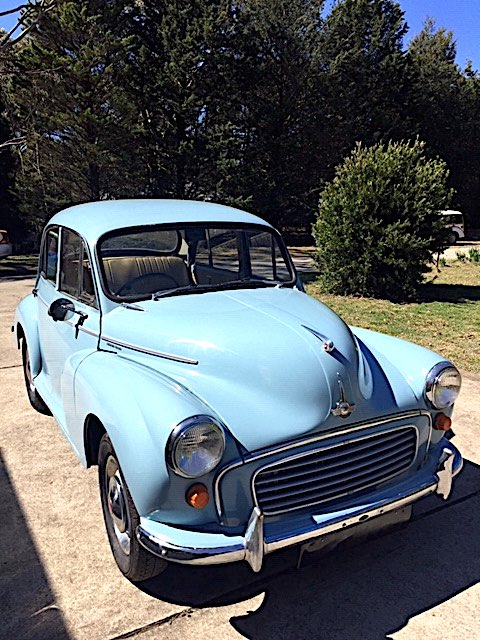 For sale Morris Minor 1000 4-door sedan blue